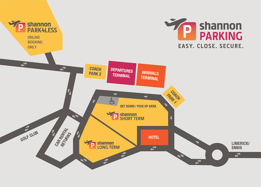 Shannon Airport Map Shannon Airport   Park 4 Less at Shannon Airport | Long Term Parking