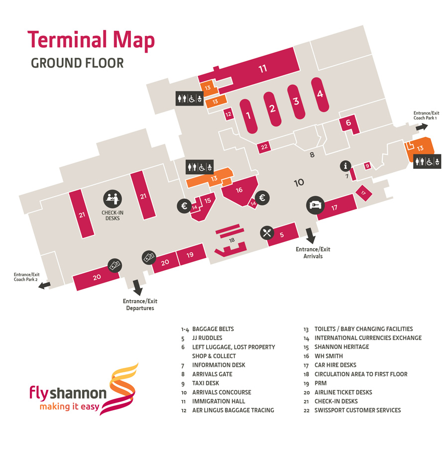 Shannon Airport Map Shannon Airport   Shannon Airport Map | Maps of Shannon Airport