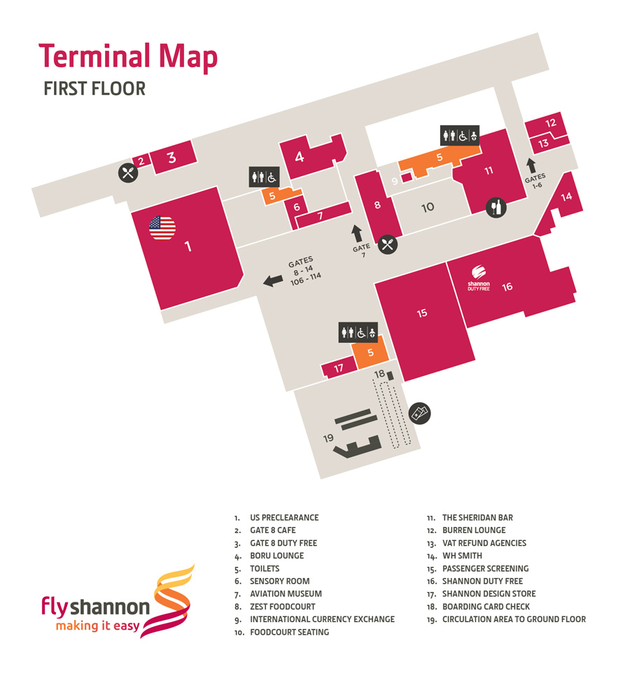Shannon Airport Shannon Airport Map Maps Of Shannon Airport