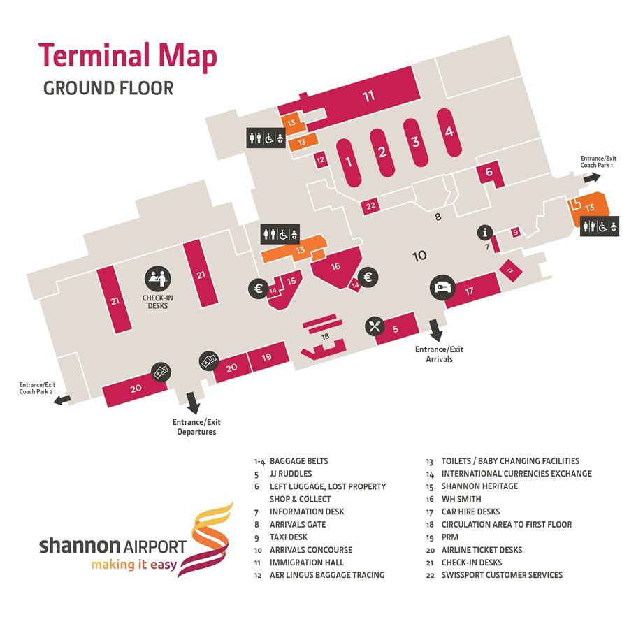 shannon airport map of ireland Shannon Airport Shannon Airport Map Directions To Shannon Airport shannon airport map of ireland